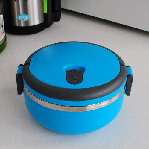 New 2014 Stainless Steel Lunch Box with handle Thermos for Food Container insulation Student Bento box Dinnerware discount sale(China (Mainland))