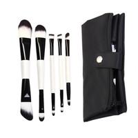 Bangor 5pcs Makeup Brushes - Professional Double Sided Cosmetic Makeup Brush Kit - Black Carrry Bag Case Holder