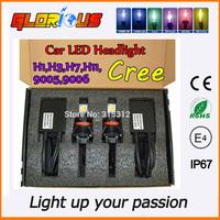 1set  2x25W  led headlights car  H7 H11 9005 9006 2x 1800LM LED kit headlight headlamp bulbs CREE HEADLIGHT CONVERSION KIT