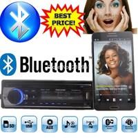 new 12V Car tuner Stereo bluetooth FM recieve Radio MP3 Audio Player USB SD MMC Port Car radio bluetooth tuner In-Dash 1 DIN