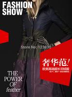 luxury fashion  Winter Thickening Warm White Down Parkas Female Women's Longe Jackets Coats  winter dress Free Shipping