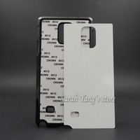 Free Shipping! 50pcs/lot DIY 2D Sublimation Blank Case with Aluminum Inserts for Samsung Galaxy Note 4