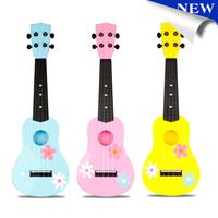 New Kid Mini 4 String Colorful Children Cute Flower Guitar Christmas Gift for Kids