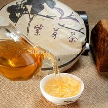 357g Purple Pu er tea cake 10 years old ancient pu er tea tree Yunnan wild