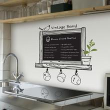 Alta qualidade cozinha Decal Chalkboard Decor Blackboard removível à prova d ' água da parede do vinil adesivo cozinha Chalk Board grátis frete(China (Mainland))