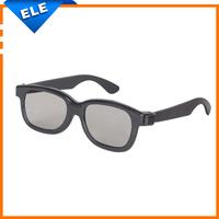 New Hot sale Black Circular Polarized 3D Glasses for home 3D Movie DVD LCD Video Game Movie theater oculos de sol feminino