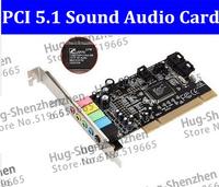 High Quality  1pcs Pci 5.1 sound card encoding 6 audio sound card CMI 8738 computer sound card PCI 5.1 stereo