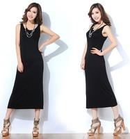 Promotions! 10 Colors Fashion European Style Cotton Women Long Dress