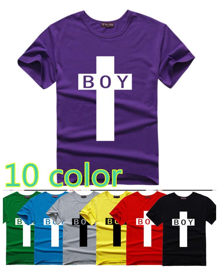 BLACK FRIDAY SALE! Men Short Sleeve Causal Cotton Hip Hop Sport T-shirt Men O-neck Cross Printing T-shirt 10 COLORS(China (Mainland))