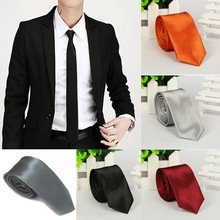 5 cores muito barato venda quente Casual magro Plain Mens sólidos magro do partido de casamento laço de seda gravata(China (Mainland))