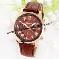 Fashion 3888 New Leather Geneva Watches Women Dress Quartz Roman Style Leather Wristwatch Hot Sale Lady Watches