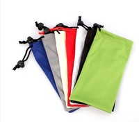 Fashion new  microfiber 100%  polyester   Eyewear sunglasses Cell phone closure pockets case pouch