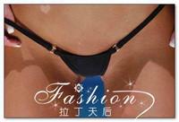 Women Metal Ring Cotton MIcro Bikini Thong-Ladies' Fashion Sexy Hipster Tiny G-string T-Back Panties Underwear Lingerie Swimwear