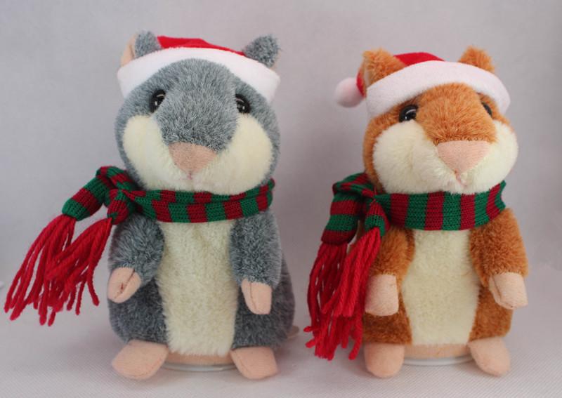 Retail 1 Piece Kids Girls Talking Hamster Plush Toy Hot Speak Talking Sound Record Hamster Toys Doll Christmas Gift For Children(China (Mainland))