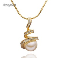 Hot Sale 18K Gold Plated Necklace Pendants New Fashion Jewelry Gold/Rose Gold/Plastinum For Women Free Shipping