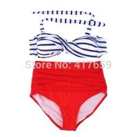 1pcs High Waist Bikini Swimsuit Summer Sexy Retro Pinup Rockabilly Vintage Swimwear M-XL Wholesale