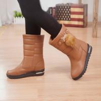 2014 women   flat boots  cotton boots women winter boots thickening waterproof snow boots DD23