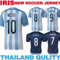 MESSI jersey 2016 Argentina home jersey  MASCHERANO AGUERO  Argentina 15 16 DI MARIA  KUN AGUERO  ARGENTINAIZERSFootball jersey
