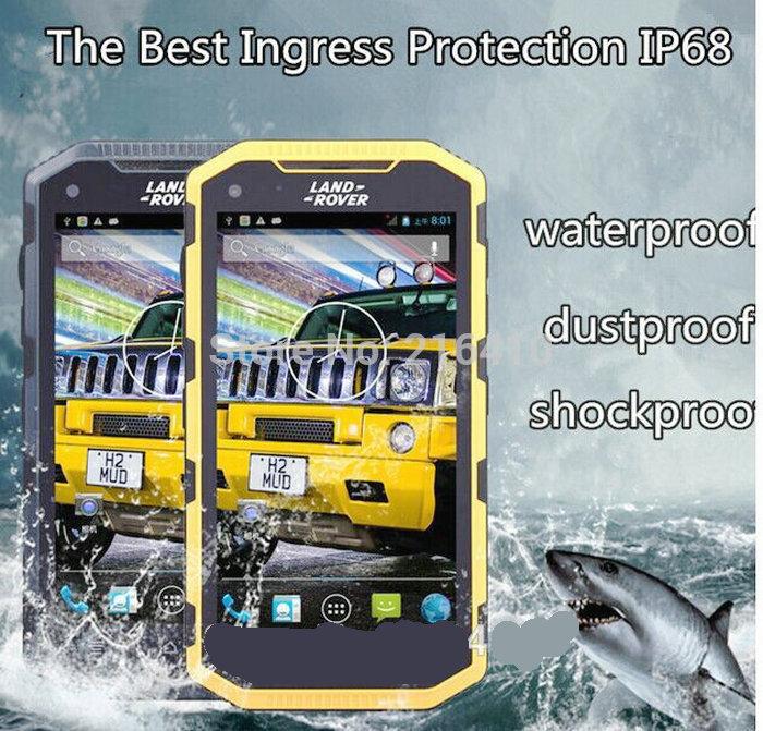 5.0 INCH rugged IP68 waterproof V8 smart phone intercom MTK6582 Dual core 1G 8GB WIFI GPS 3G CDMA MOBILE PHONE 2 SIM CAMERA(China (Mainland))