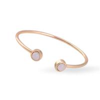New Fashion Design Elegant Women Simple Charms Stone Gold Plated Statement  Cuff Bangle Jewelry