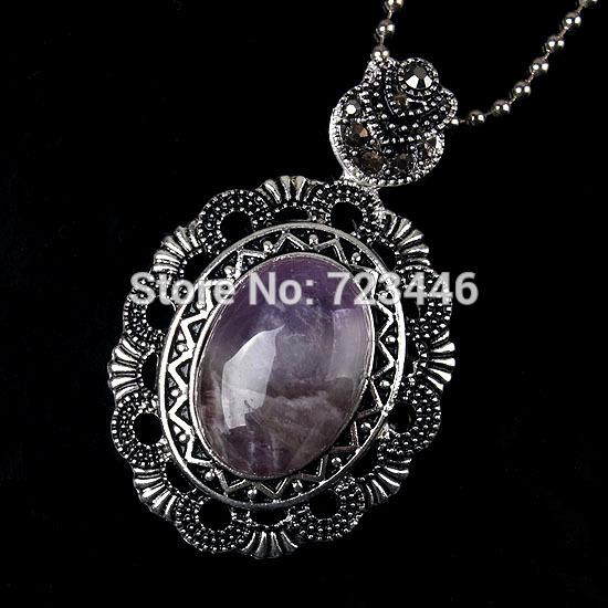 Amethyst Natural Stone Oval Beads Turtle Tortoise Shell Turtleback Reiki Pendant Charms Health Amulet Numen Retro Jewelry 10pcs(China (Mainland))