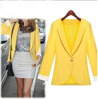 Hot European 2014 autumn new women Slim thin long-sleeved  jacket blazer coat 1417