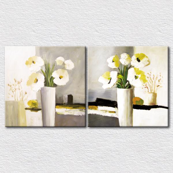 Grosir-2pcs-set-gambar-hiasan-lukisan-bunga-modern-abstrak-dicetak-di ...