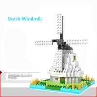 Holland windmill kids bricks intellect blocks toys free shipping