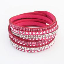 Christmas Gift Women 2014 New Arrival Elegant Personalized Multilayer Leather Bracelet Long Bracelets Bangles Jewelry PT36