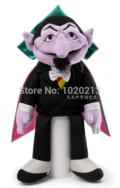 Sesame Street Count Beanbag Stuffed Animal 37cm Boja Plush Toys Hand Puppets(China (Mainland))