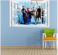 Details about Cartoon Frozen Queen 3D Window Wall Sticker Viny Mural Decal Kids Home Decor if wall sticker cartoon
