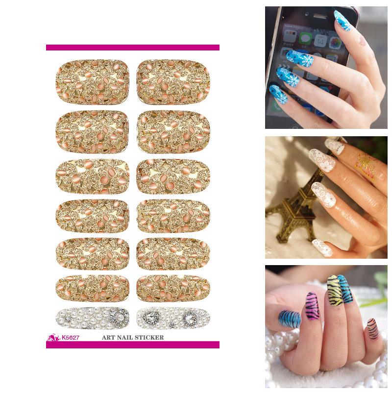 Наклейки для ногтей Zexustech Bling 3D Nail Art Sticker