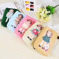 Hot Sale 2014 New Women & Kids Childrens Bags lovely doll Print  Coin Purses restoring ancient ways Cartoon phone bag/ key bag
