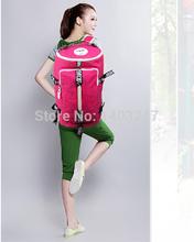 Lokcoo Brand Travel Camping Hiking Backpack For Men Women Bucket Shape Shoulder Messenger Handbag 4 Colors Black Pink Blue Red(China (Mainland))