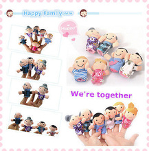 6PCS Hot Funny Family Finger Puppets Cloth Doll Baby Kid Child Children Educational Hand Toy Story(China (Mainland))