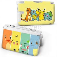 2015 Japan Original New sale anime pokemon ABS Protective Hard Case for 3DS XL Pikachu Squirtle Charmander Bulbasaur design