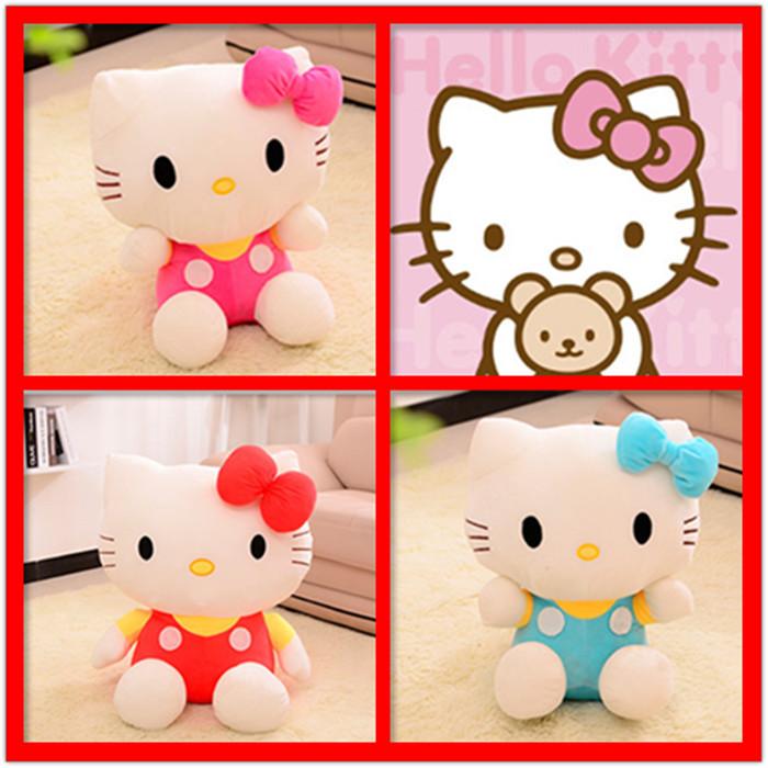 3pcs 20cm Hello Kitty Plush Toys Dolls Soft Kids Classic Anime Bonecas cat toy for girls boy kids(China (Mainland))