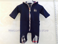 freeshipping  high-quality fashion brand rompers 100% cotton  full Rompers  baby girl baby boy rompers for 3-18M