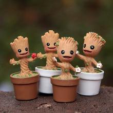 Kids Gift Funko Pop Guardians of The Galaxy Funko Pop Dolls Model Hand-done Mini Cartoon Groot Toys(China (Mainland))