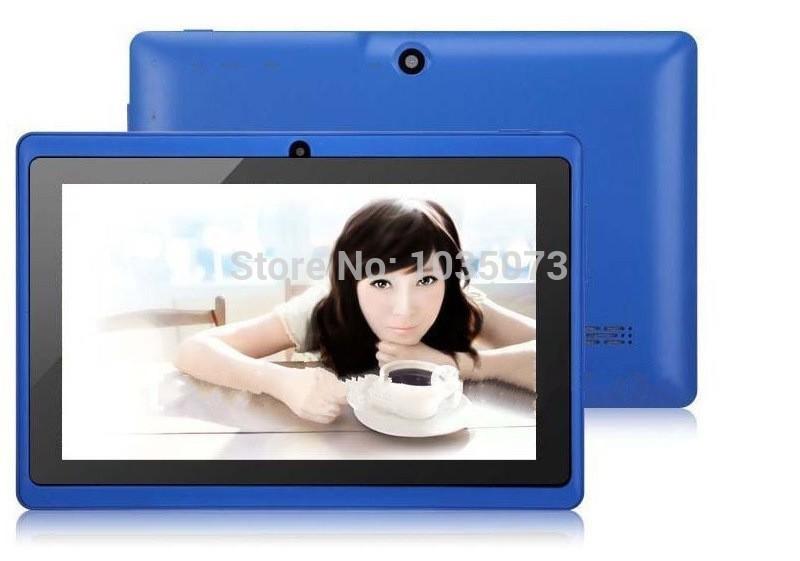 Q88 A33 7 Inch Quad Core Allwinner Android 4.4 Tablet PC 800*480 512MB RAM 4GB ROM 1.2GHz WIFI Dual Camera TF Card OTG HD(China (Mainland))