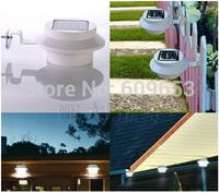 Solar Powered LED Rechargeable Solar Light Lawn Fence Wall lamp 3 LEDs Fence Gutter Garden Solar Lamp Light emitting diode lamp