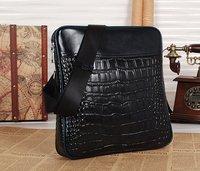 100% Genuine Leather Men's Leather Messenger Bag Briefcase Man Shoulder Bag Laptop Bag  DHL Free Shipping 2Color Model MY-66267