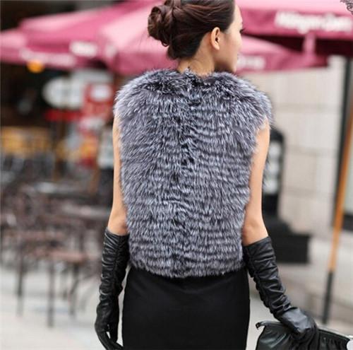 Женщины искусственный мех жилет куртка осень зима дамы жилет топы свободного покроя тёплый женское пальто элегантный женщина