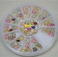 Fashion Nail Art Pearl Rhinestones 3D Nail Art Metal Studs Gems Charms DIY Craft Decoration Nail Supplies Styling Tools#NA047x1