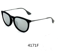 hotsale fashion woman/man retro brand 4171F6075 / 6G sunglasses  Erika Velvet  Black Mirror glasses 54mm