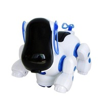 Lovely Robot Robotic Electronic Walking Dog Puppy Safe Kids Toy with Music Light Free shipping