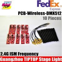 Freeshipping 10pcs/lot Professional Wireless DMX512 Receiver DJ Wireless Receiver Signal DMX lighting Hi-Quality remote control