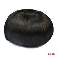 12*7.5 CM Women's  Attractive Hair Bun Cover  Straight Short Layered Wig Natural Full Wigs+Wig  Ponytail