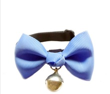 2014 New Fashion Pet Products Solid Pet Collars Pet Grooming adjustable Bow Tie With bells for
