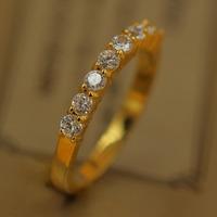 Shinee Jewelry Fashion 18K Gold Filled Plated Ring Wedding Engagement Rhinestone Crystal FASHIN Rings For Women R25054